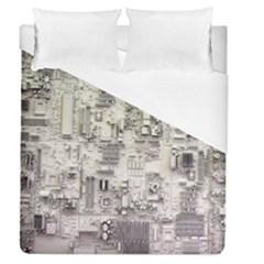 White Technology Circuit Board Electronic Computer Duvet Cover (queen Size)