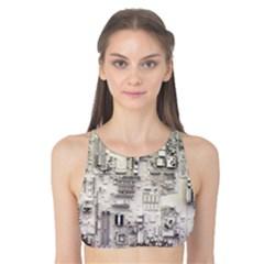 White Technology Circuit Board Electronic Computer Tank Bikini Top