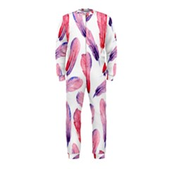Watercolor Pattern With Feathers Onepiece Jumpsuit (kids)