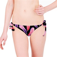Watercolor Pattern With Feathers Bikini Bottom
