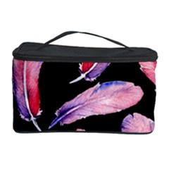 Watercolor Pattern With Feathers Cosmetic Storage Case by BangZart