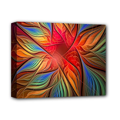 Vintage Colors Flower Petals Spiral Abstract Deluxe Canvas 14  X 11  by BangZart