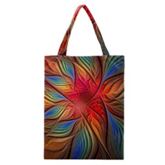 Vintage Colors Flower Petals Spiral Abstract Classic Tote Bag