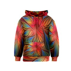 Vintage Colors Flower Petals Spiral Abstract Kids  Zipper Hoodie