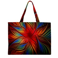 Vintage Colors Flower Petals Spiral Abstract Zipper Mini Tote Bag