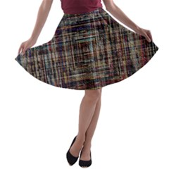Unique Pattern A Line Skater Skirt