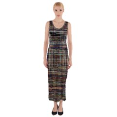 Unique Pattern Fitted Maxi Dress