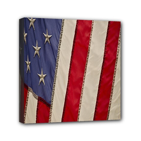 Usa Flag Mini Canvas 6  X 6  by BangZart