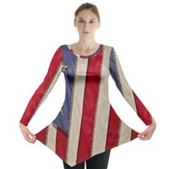 Usa Flag Long Sleeve Tunic