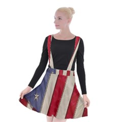 Usa Flag Suspender Skater Skirt by BangZart
