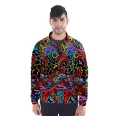 Vector Art Pattern Wind Breaker (men)