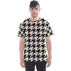Houndstooth2 Black Marble & Beige Linen Men s Sports Mesh Tee by trendistuff