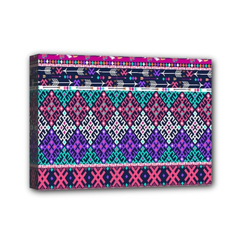 Tribal Seamless Aztec Pattern Mini Canvas 7  X 5