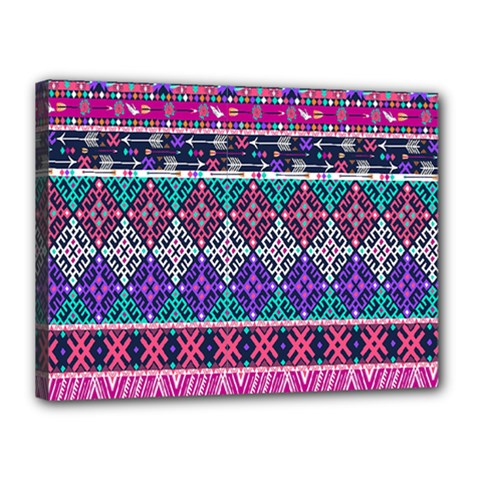 Tribal Seamless Aztec Pattern Canvas 16  X 12  by BangZart