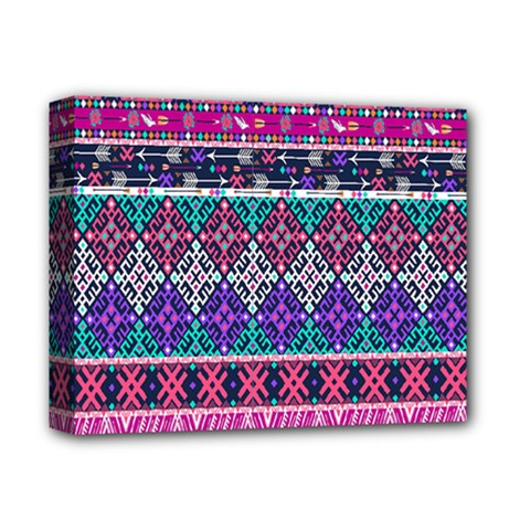 Tribal Seamless Aztec Pattern Deluxe Canvas 14  X 11  by BangZart