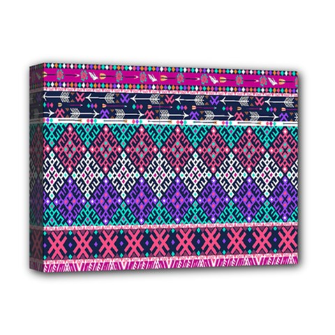 Tribal Seamless Aztec Pattern Deluxe Canvas 16  X 12   by BangZart