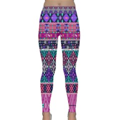 Tribal Seamless Aztec Pattern Classic Yoga Leggings