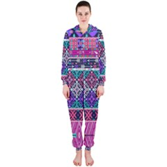 Tribal Seamless Aztec Pattern Hooded Jumpsuit (ladies)