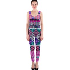 Tribal Seamless Aztec Pattern Onepiece Catsuit