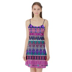 Tribal Seamless Aztec Pattern Satin Night Slip