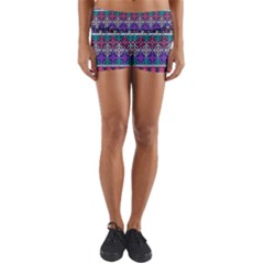 Tribal Seamless Aztec Pattern Yoga Shorts