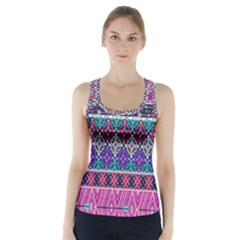 Tribal Seamless Aztec Pattern Racer Back Sports Top