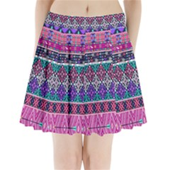 Tribal Seamless Aztec Pattern Pleated Mini Skirt