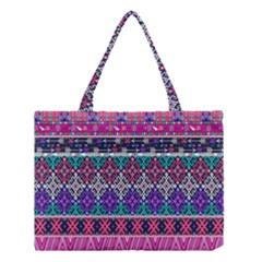 Tribal Seamless Aztec Pattern Medium Tote Bag by BangZart