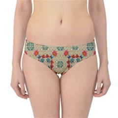 Traditional Scandinavian Pattern Hipster Bikini Bottoms
