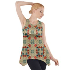 Traditional Scandinavian Pattern Side Drop Tank Tunic