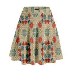 Traditional Scandinavian Pattern High Waist Skirt