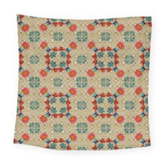 Traditional Scandinavian Pattern Square Tapestry (large)