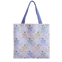 Enjoy The Ride Zipper Grocery Tote Bag by genecehamby
