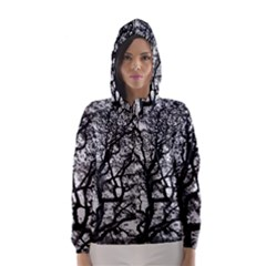 Tree Fractal Hooded Wind Breaker (women)
