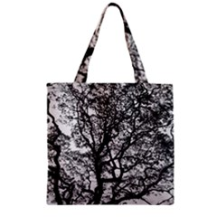 Tree Fractal Zipper Grocery Tote Bag by BangZart