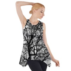 Tree Fractal Side Drop Tank Tunic