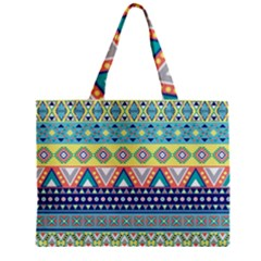 Tribal Print Zipper Mini Tote Bag