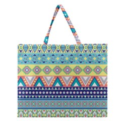 Tribal Print Zipper Large Tote Bag by BangZart