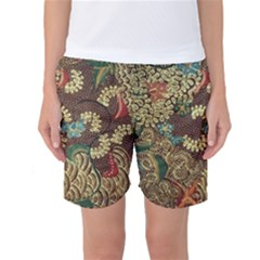 Traditional Batik Art Pattern Women s Basketball Shorts