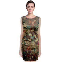 Traditional Batik Art Pattern Classic Sleeveless Midi Dress