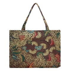 Traditional Batik Art Pattern Medium Tote Bag