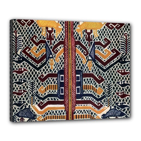 Traditional Batik Indonesia Pattern Canvas 20  X 16