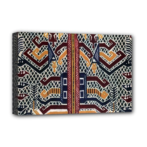Traditional Batik Indonesia Pattern Deluxe Canvas 18  X 12   by BangZart