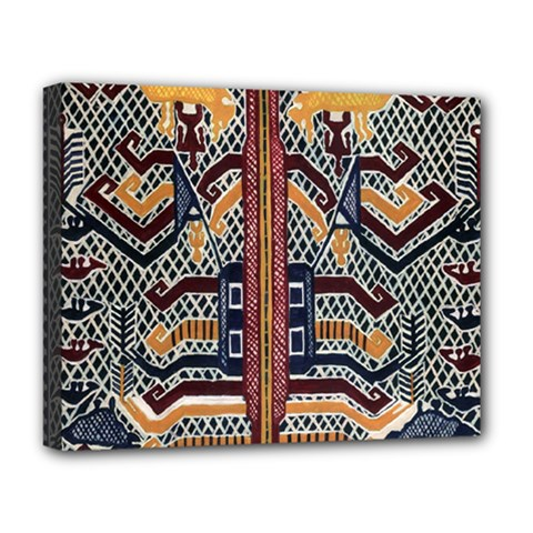 Traditional Batik Indonesia Pattern Deluxe Canvas 20  X 16   by BangZart