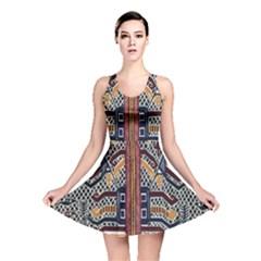Traditional Batik Indonesia Pattern Reversible Skater Dress