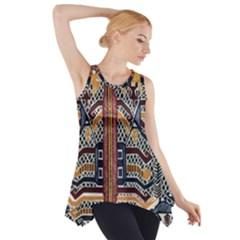 Traditional Batik Indonesia Pattern Side Drop Tank Tunic
