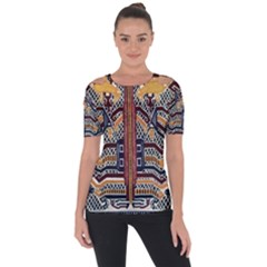 Traditional Batik Indonesia Pattern Short Sleeve Top