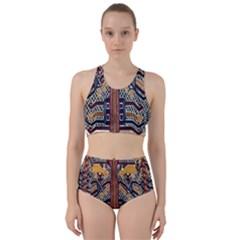 Traditional Batik Indonesia Pattern Bikini Swimsuit Spa Swimsuit