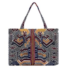 Traditional Batik Indonesia Pattern Medium Zipper Tote Bag