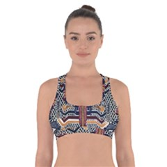 Traditional Batik Indonesia Pattern Cross Back Sports Bra